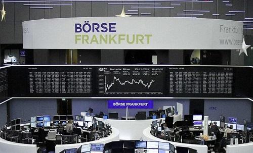 Торговый зал Франкфуртской фондовой биржи