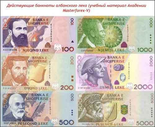 Банкноты албанского лека