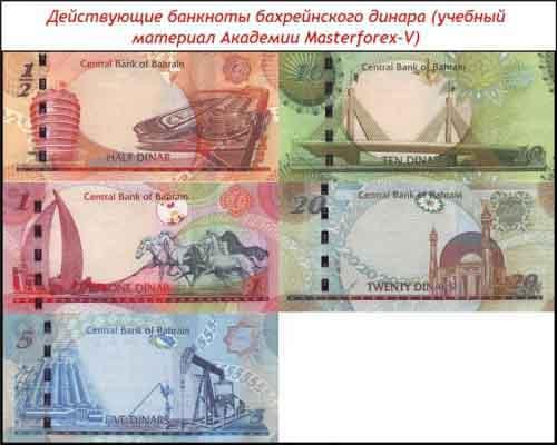 Банкноты бахрейнского динара