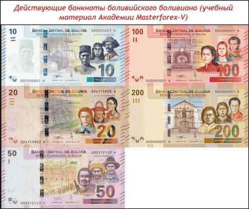 Банкноты колумбийского песо