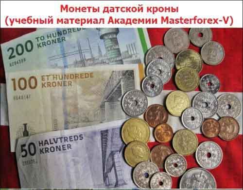 Монеты датской кроны