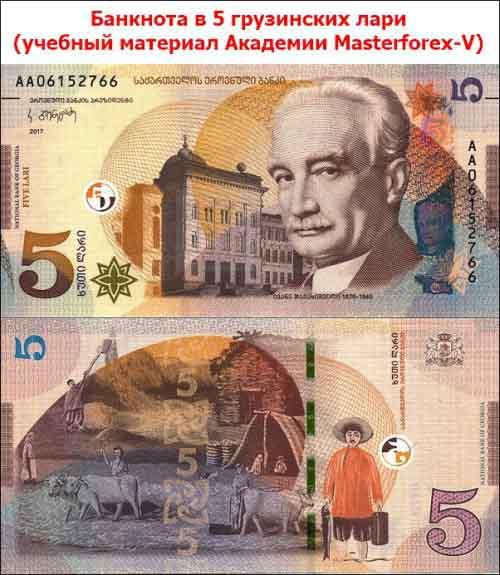 Банкнота в 5 грузинских лари