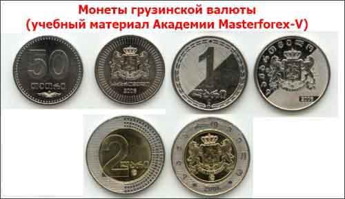 Монеты грузинской валюты
