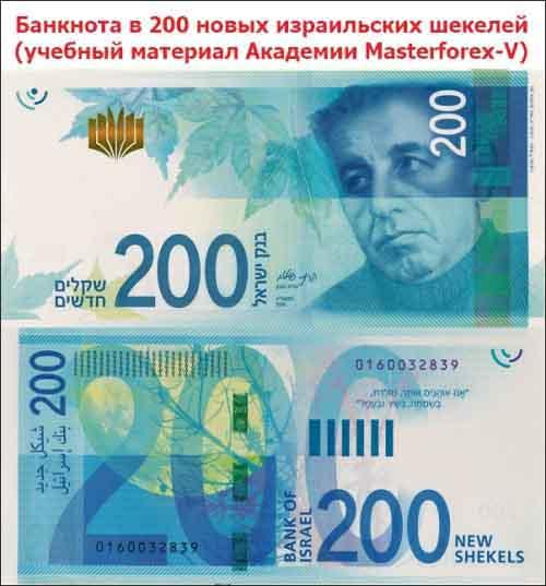 Банкнота 200 шекелей
