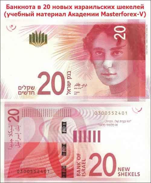 Банкнота в 20 новых израильских шекелей