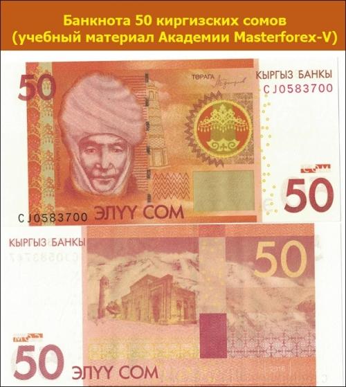 Банкнота 50 киргизских сомов