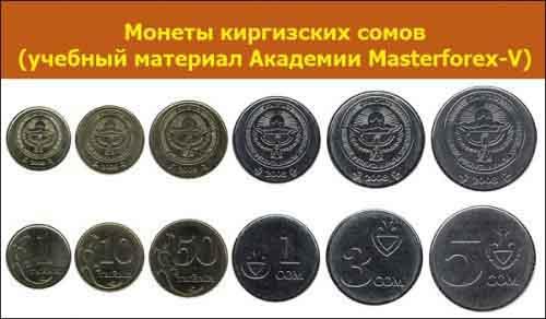 Монеты киргизского сома