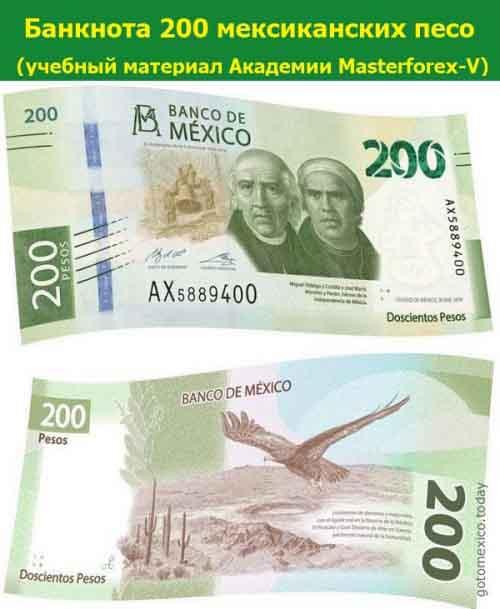 Банкнота 200 мексиканских песо