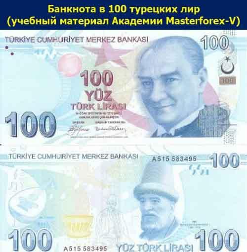 Банкнота 100 лир