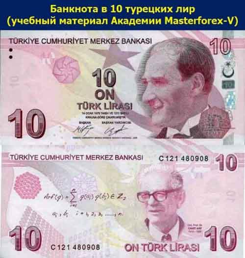 Банкнота 10 лир