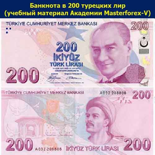 Банкнота 200 лир