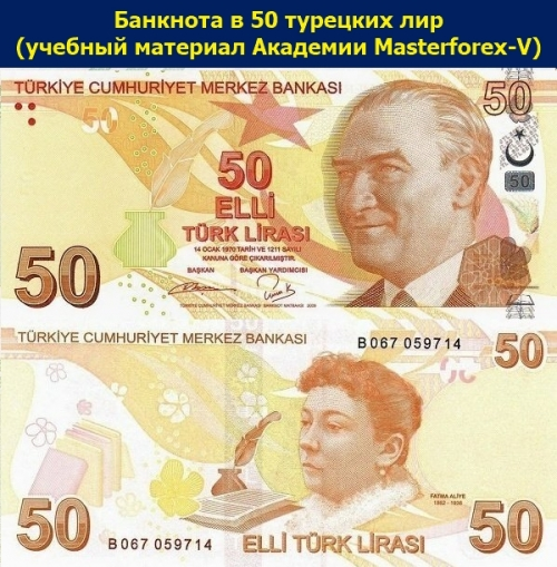 Банкнота 50 лир