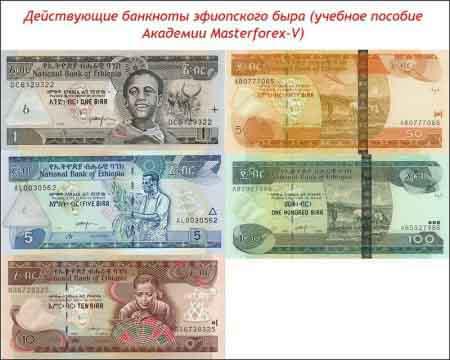 Банкноты эфиопского быра