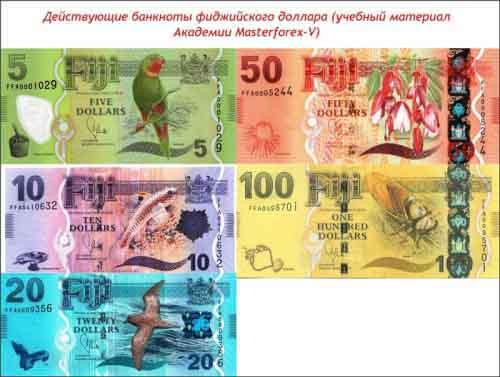 Банкноты фиджийского доллара