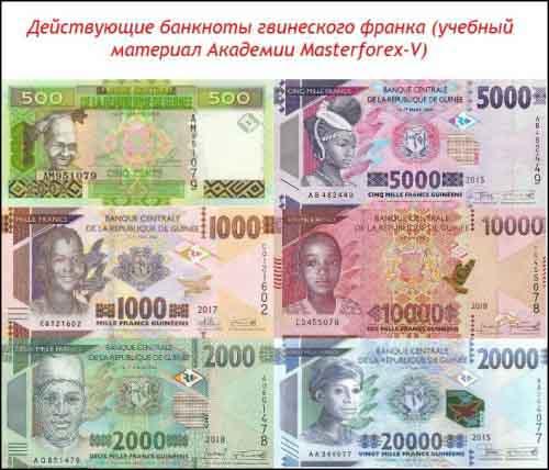 Банкноты гвинейского франка