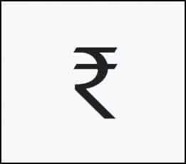 Знак индийской рупии
