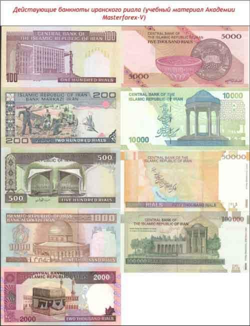 Банкноты иранского риала