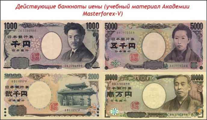 Банкноты японской йены
