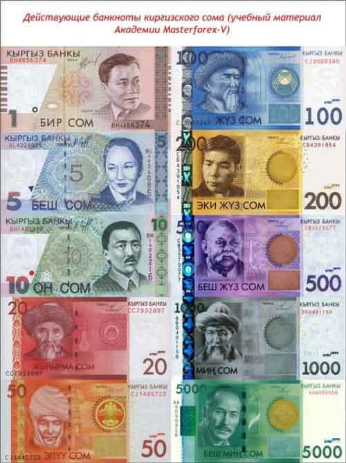 Банкноты киргизского сома
