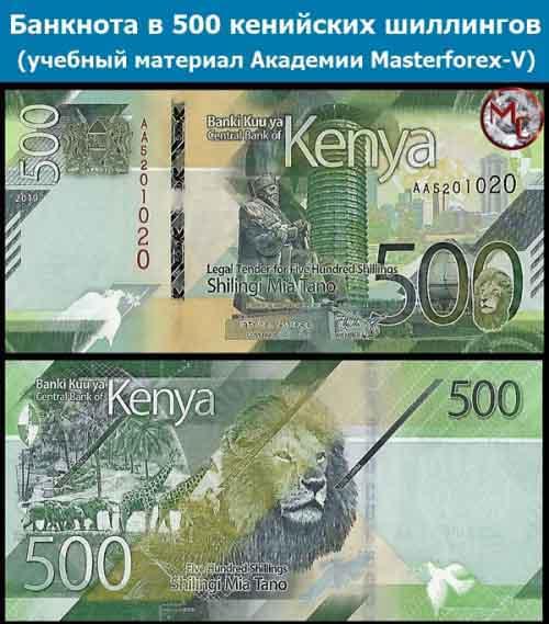 Купюра 500 кенийских шиллингов
