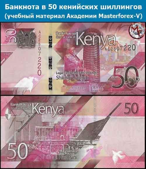 Купюра в 50 кенийских шиллингов