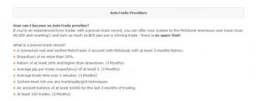 AutoTrade Providers