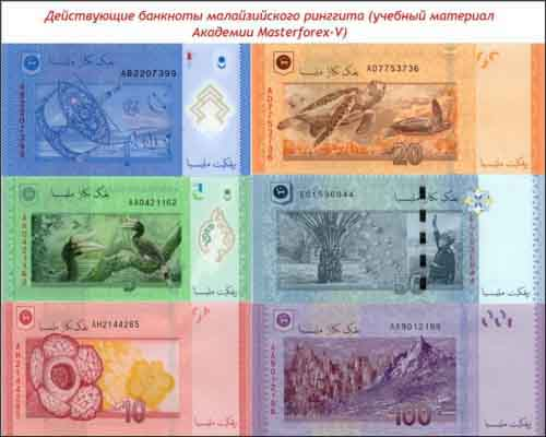 Банкноты малайзийского ринггита