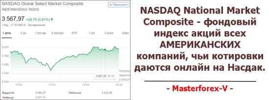 NASDAQ National Market Composite - фондовый индекс акций всех АМЕРИКАНСКИХ компаний, чьи котировки даются онлайн на Насдак