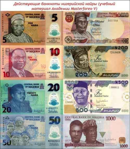Банкноты нигерийской найры