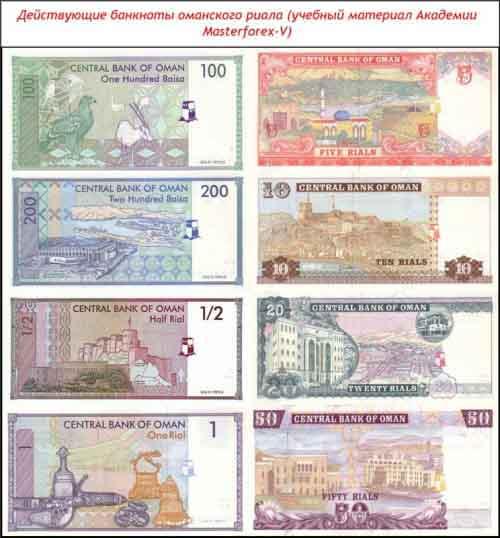 Банкноты оманского риала