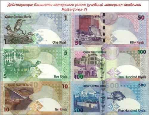 Банкноты катарского риала