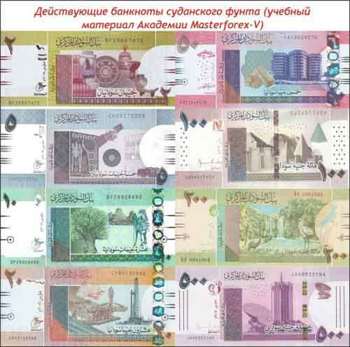 Банкноты суданского фунта