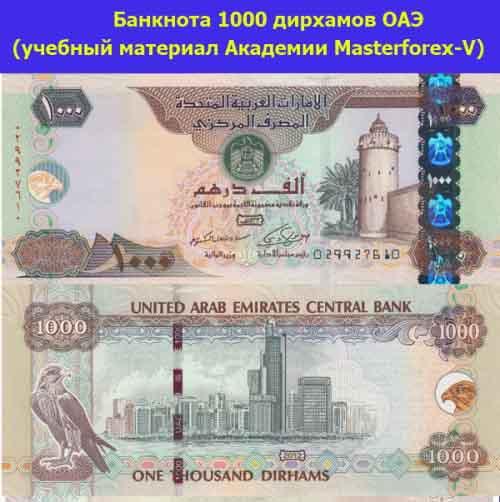 Банкнота в 1000 дирхамов ОАЭ
