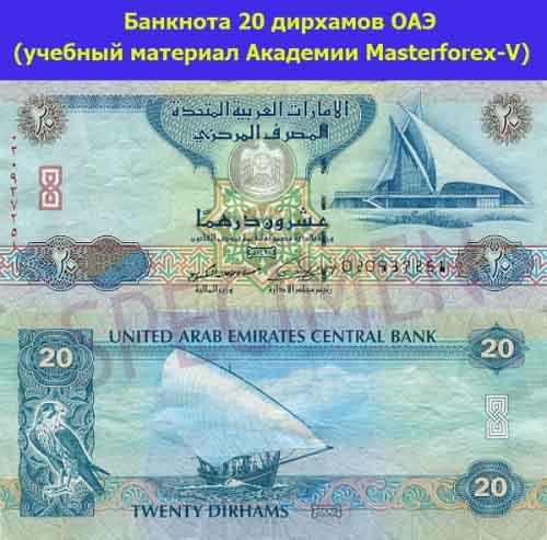 Банкнота в 20 дирхамов ОАЭ
