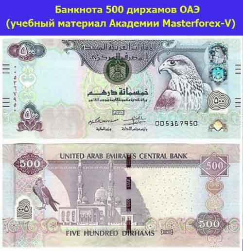 Банкнота в 500 дирхамов ОАЭ