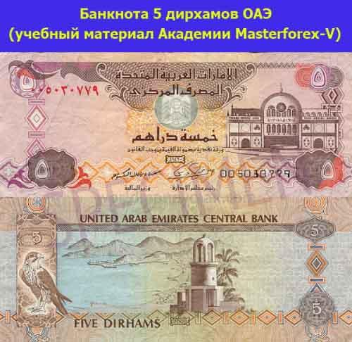 Банкнота в 5 дирхамов ОАЭ