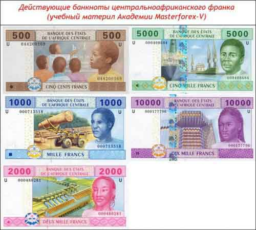Банкноты центральноафриканского франка
