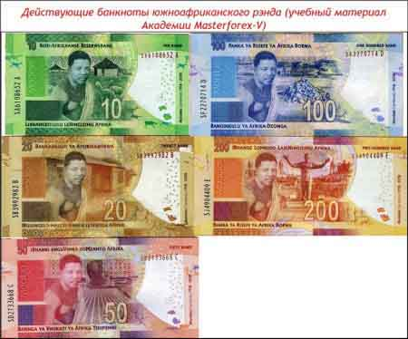Банкноты южноафриканского рэнда