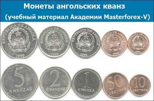 Монеты ангольской кванзы