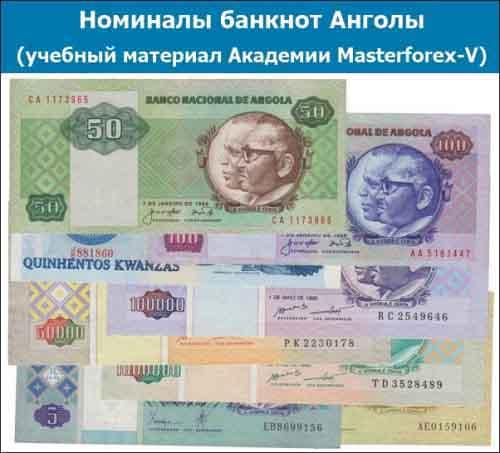 Номиналы банкнот Анголы