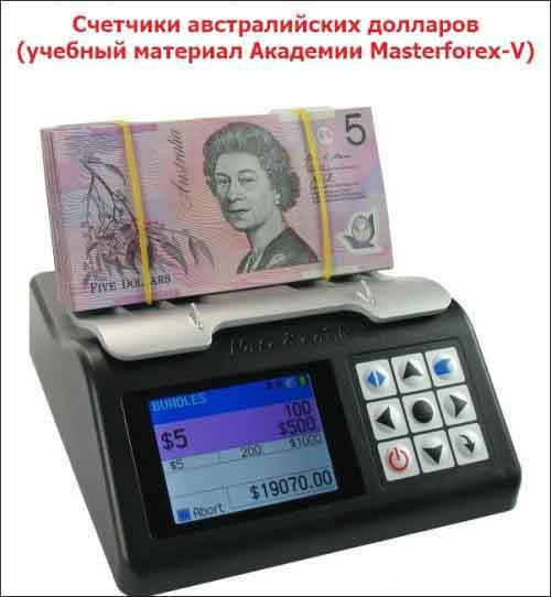 Счетчики австралийских долларов