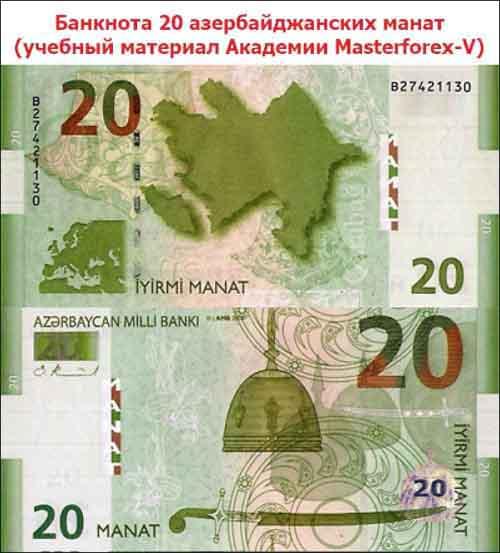 Банкнота 20 манатов