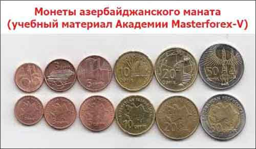 Монеты азербайджанского маната