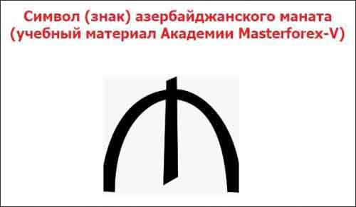 Символ (знак) азербайджанского маната