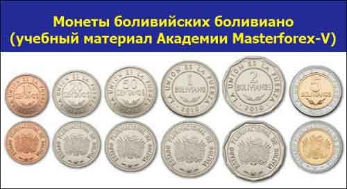 Монеты боливийского боливиано