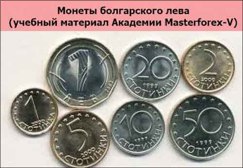 Монеты болгарского лева
