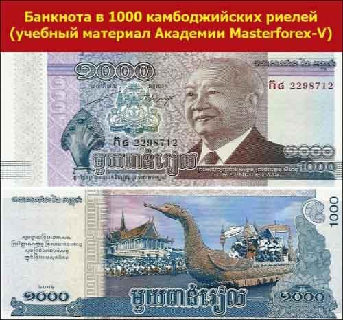 Банкнота в 1000 камбоджийских риелей
