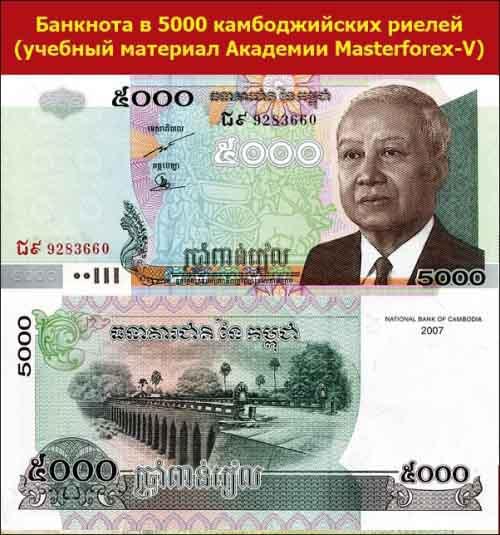 Банкнота в 5000 камбоджийских риелей