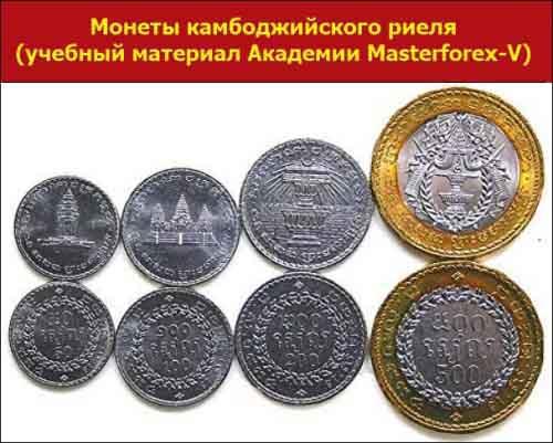 Монеты камбоджийского риеля