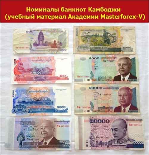 Номиналы банкнот Камбоджи